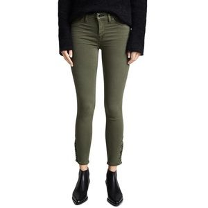 Hudson Nico Mid Rise Super Skinny Crop Jeans Green